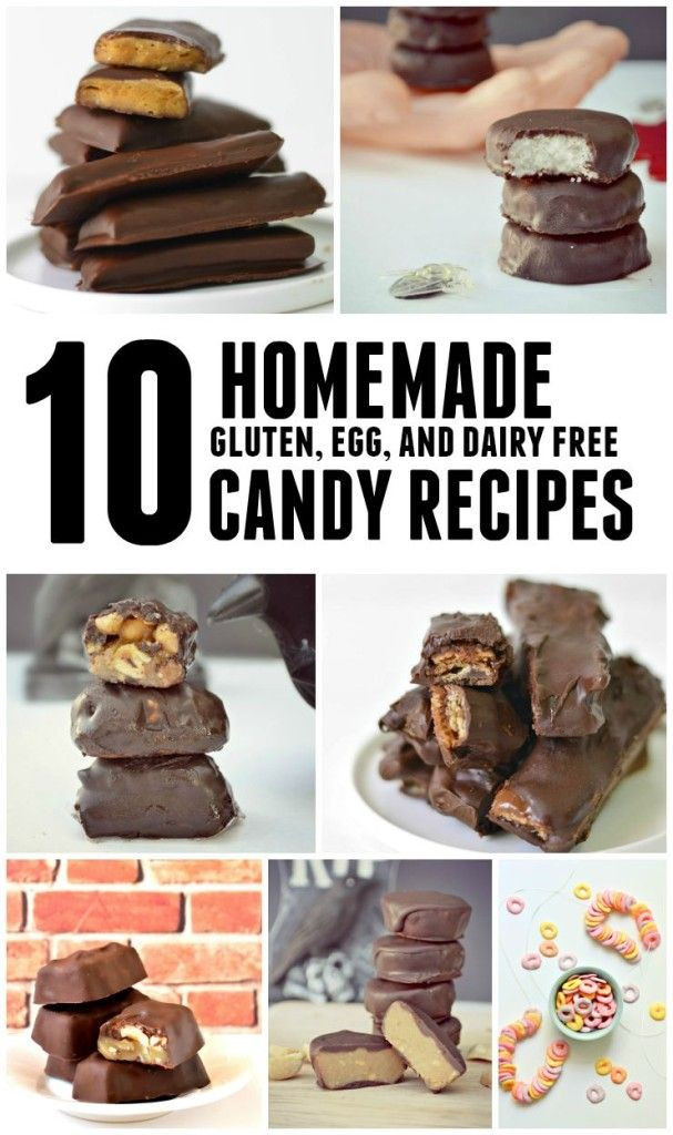 10 Homemade (gluten, egg, and dairy free) Candy Recipes -- the only thing I DON'T like about this list is how hard it is to decide which one to make first! #vegan #Halloween