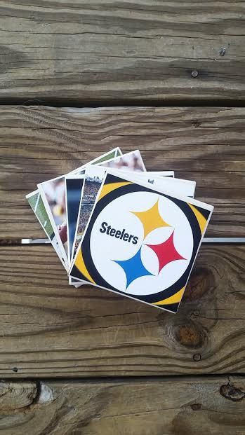 Pittsburgh Steelers Live Action Play Fan Coaster Pack by TheNSDHousewives on Etsy