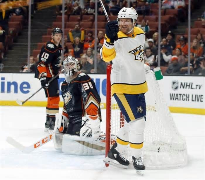 Josi, Predators hold off Ducks 5-3 in rematch of West finals ANAHEIM, Calif. (AP) — Roman Josi scored one goal and assisted on another as the Nashville Predators built a three-goal lead before holding off the Anaheim Ducks 5-3 Friday night in a rematch of last season's Western Conference finals. Scott Hartnell ...
