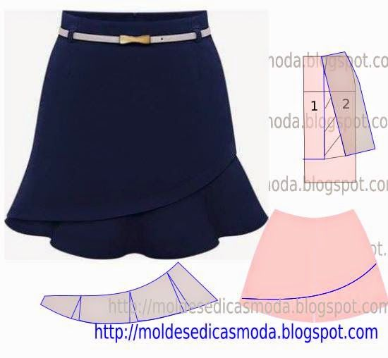 CAST SKIRT ~ Templates Fashion by Measure