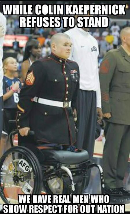 """This one is for all those folks who believe Kaepernick is """"courageous""""....."""