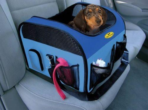 Car-Seat-Pet-Dog-Cat-Carrier-Travel-Safety-Safe-Pet-16-5X14X11-Belt-Secure-NEW