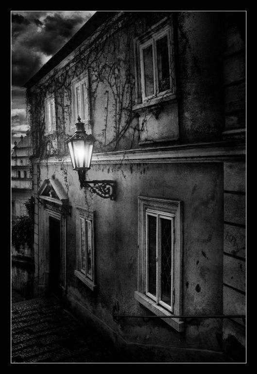 Street Lamp by Petr Nikl - Black and White... :-)