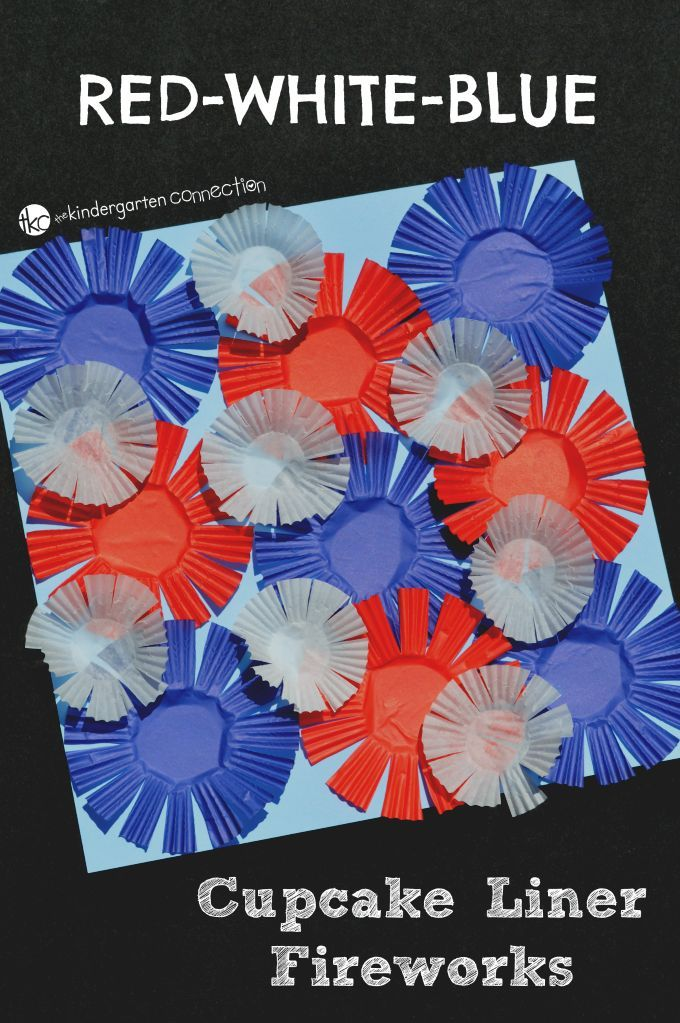 Add some red, white, and blue to your Independence Day with this easy and fun kid craft cupcake liner fireworks craft. As added bonus, it offers a great opportunity for scissor practice.