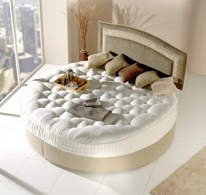 17 best images about round beds on pinterest leather for Round bed design