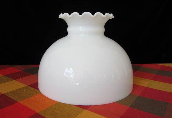 10 Glass Hurricane Lamp Globe Vintage All White Opal Glass Hurricane Lamps Hurricane Lamps Hurricane Lamp Shade