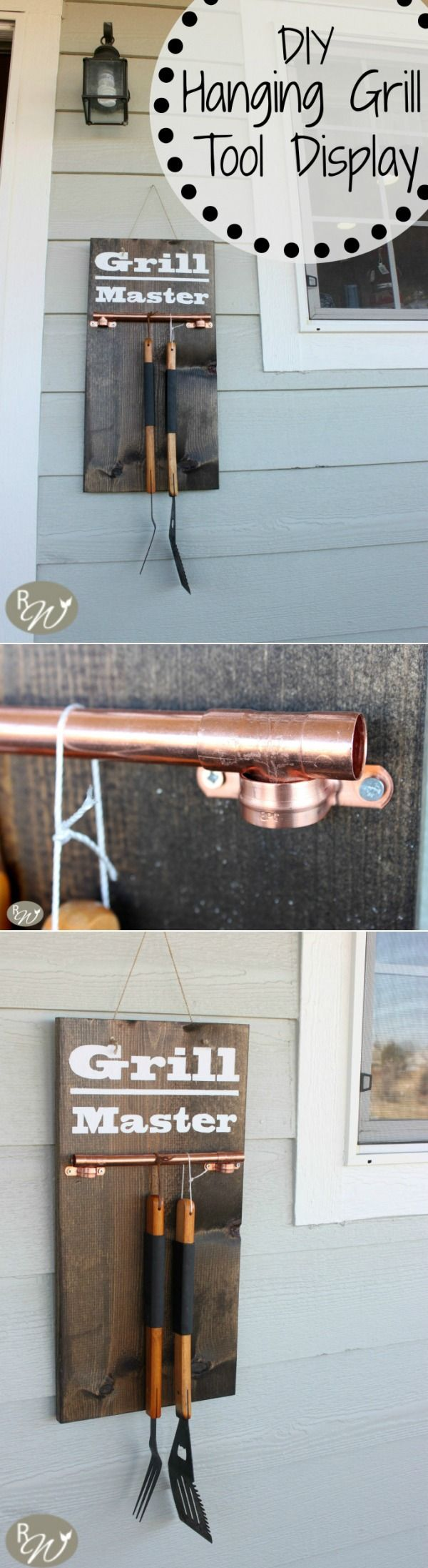 DIY Grill Tool Display Sign | therusticwillow.com