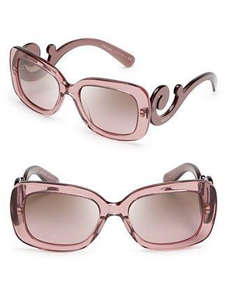 Prada Square Baroque Sunglasses   Bloomingdale's