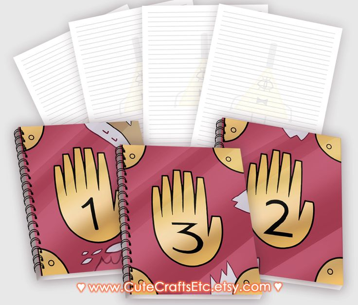 Gravity Falls Notebook 1, 2 or 3 by CuteCraftsEtc on Etsy