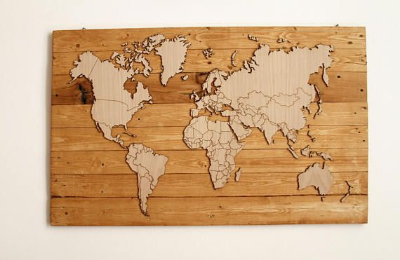WOW-World v 2.0 is a wooden map of recycled material. Completely prepared by hand, the map has a thickness of 0.6 cm while the base is completely made with polished and treated pallet wood. WOW-World v 2.0 size is 110x60x2 cm. WOW-World v 2.0 will come to your home already equipped