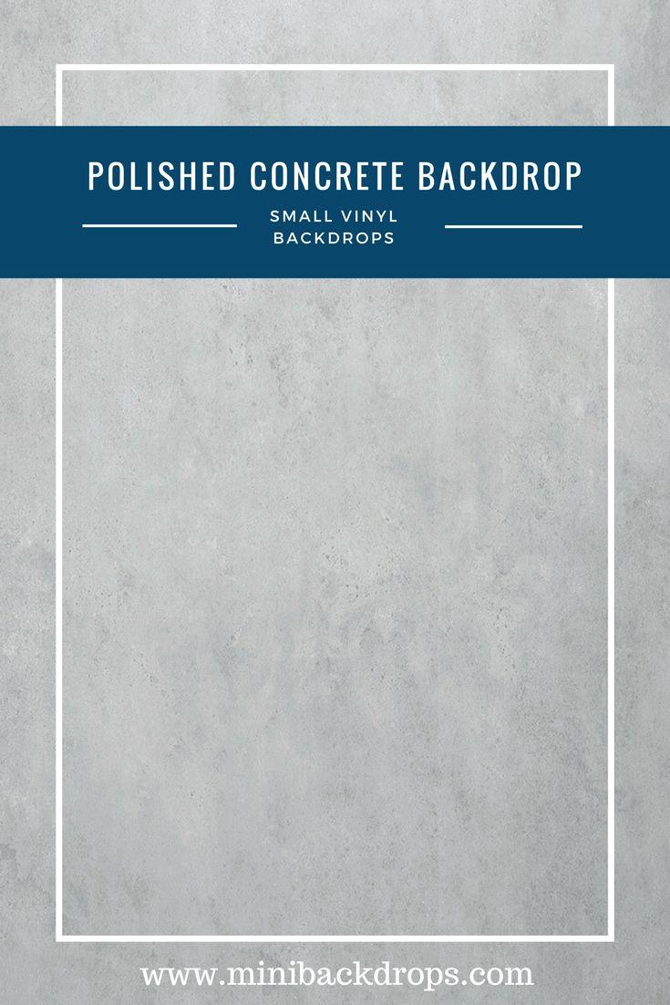 Polished Concrete - Mini Vinyl Backdrop - 023-s – Mini Backdrops