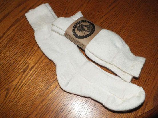 100% natural wool socks.