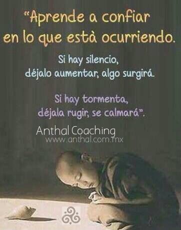 Aprende a Confiar en lo Que Esta Pasando...  Deja Que la Vida Suceda.  #Anthal #coaching #maykanda #quotelife #ontologico #AnthalTRC