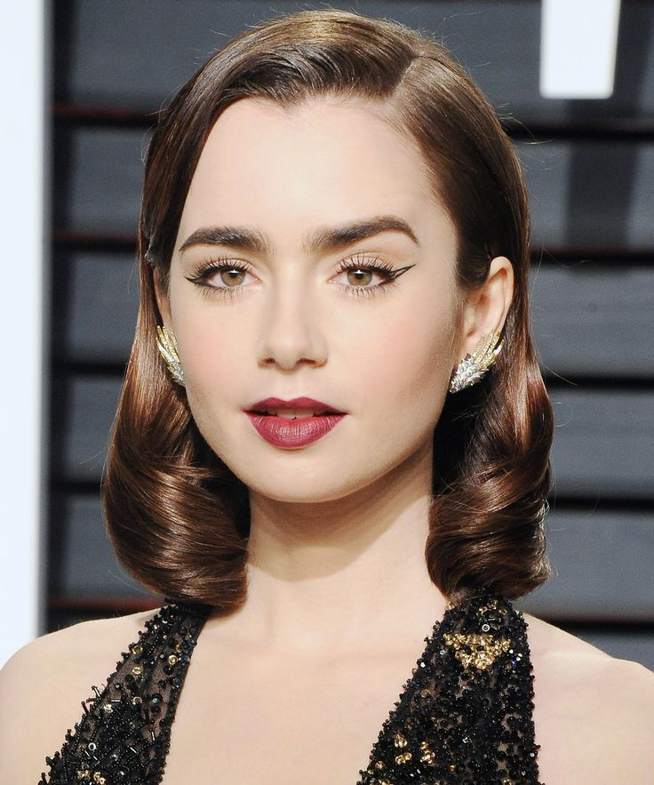 Celebrity Cat Eyes That Will Make You Hoard Liquid Liner - Lily Collins from InStyle.com