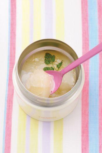 夏も大活躍☆ひんやり美味しいスープジャーのお弁当&デザートレシピ ... グレープフルーツと コンデンスミルクのゼリー