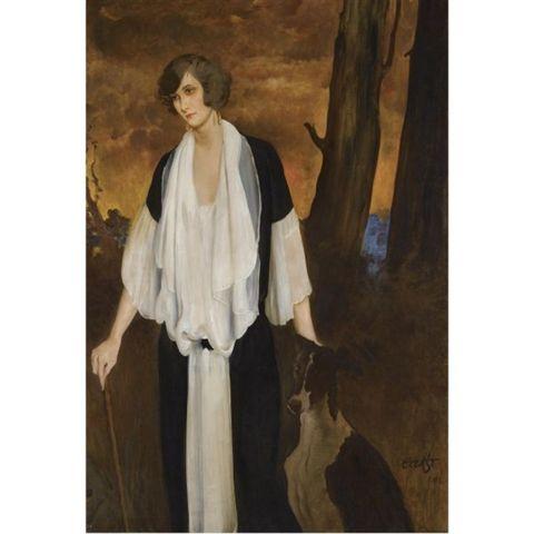 Leon Bakst: Portrait of the Future Countess Henri de Boisgelin. 1924.
