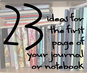 23 ideas for the first page of your journal or notebook - darktea