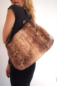 UsedNotConfused — Silvano Biagini Python Tote www.usednotconfused.com