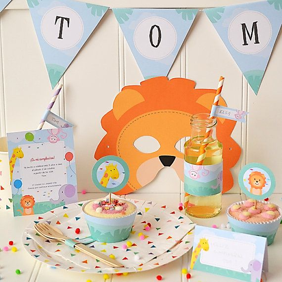 DIY Printable Jungle party kit - Instant download