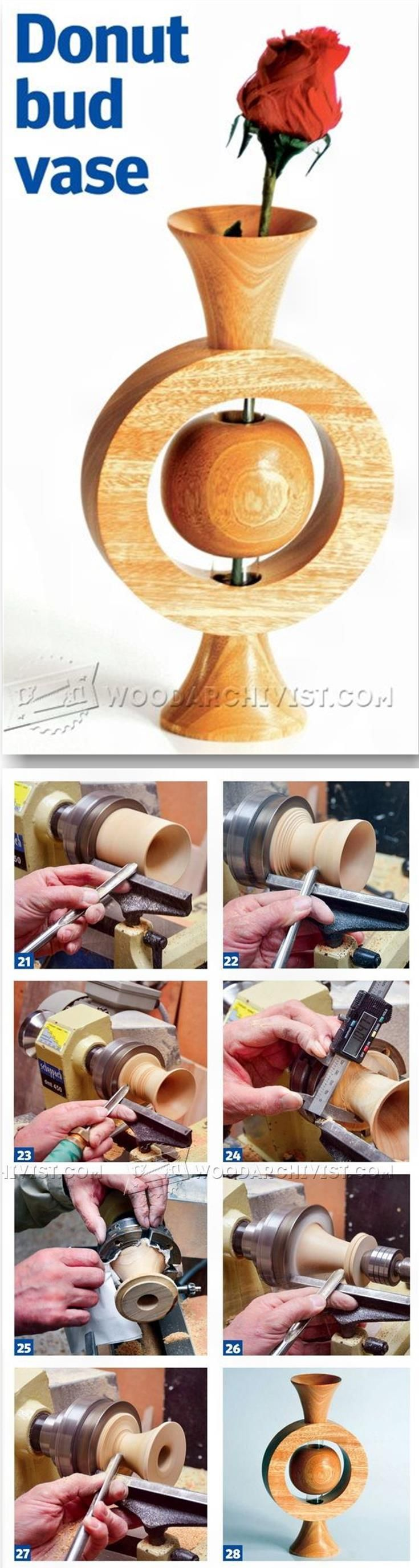 Woodturning Vase - Woodturning Projects and Techniques | WoodArchivist.com