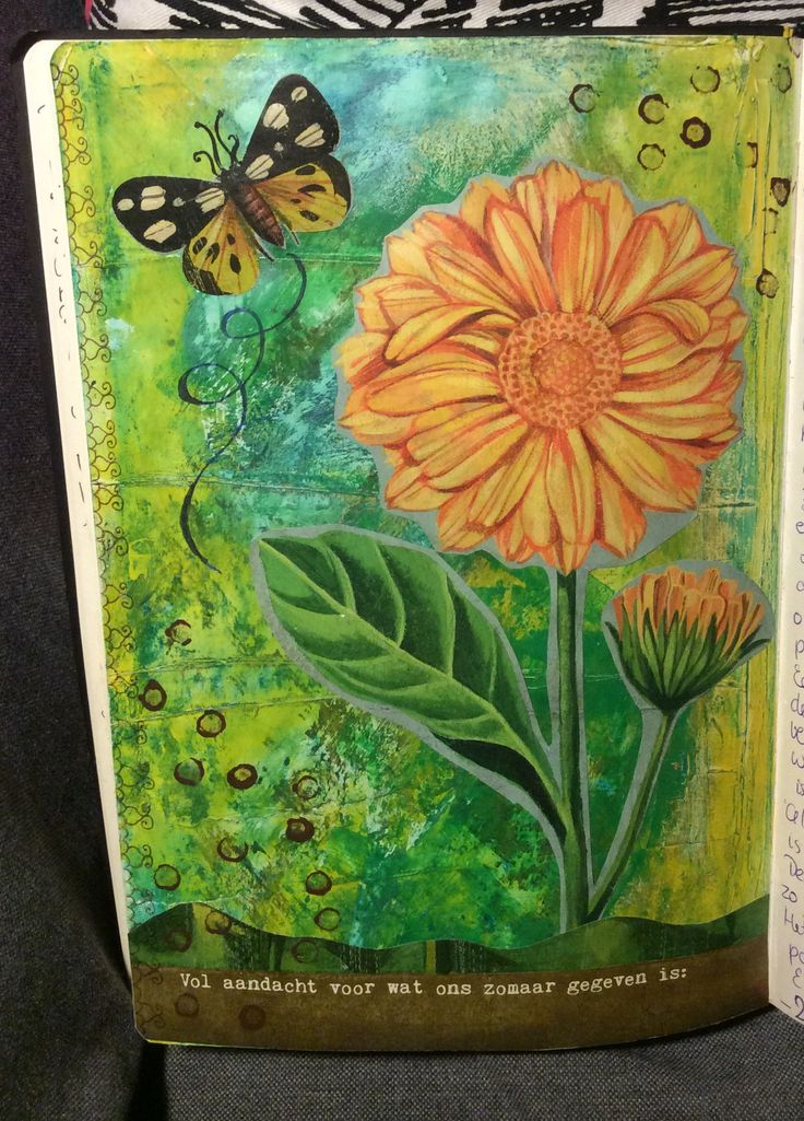 My art journal; full attention to what is given to us