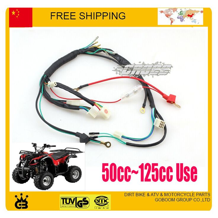 49cc 50cc 70cc 110cc 125cc ATV QUAD parts electric cable assy electronic wire atv quad accessories free shipping