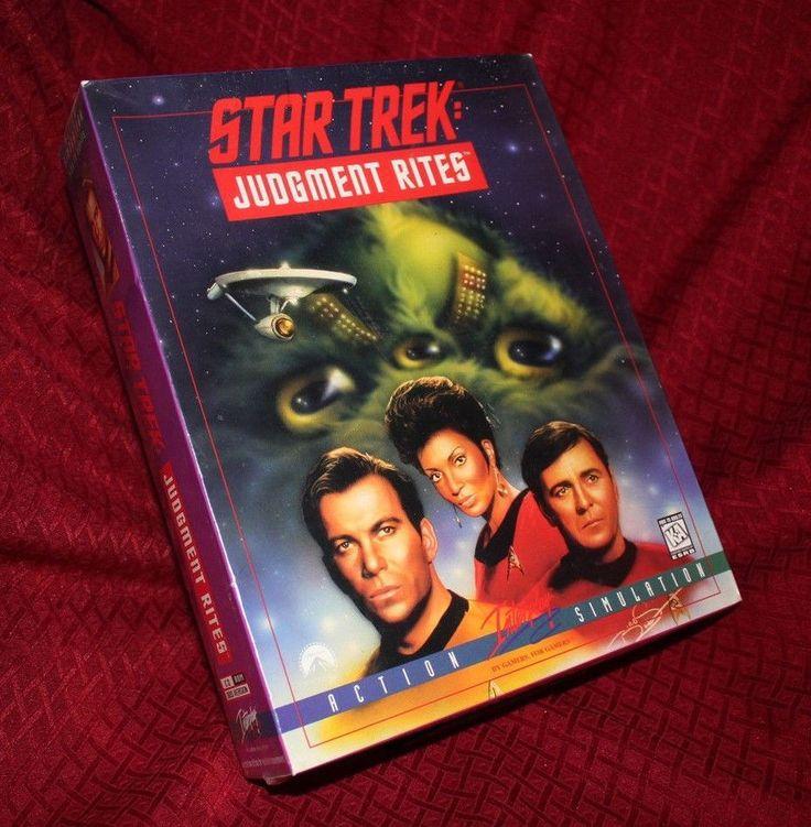 Star Trek Judgement Rites PC Game DOS CD-ROM New Sealed Interplay