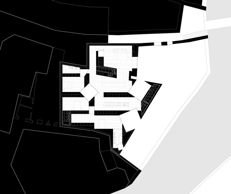 house - alcobaça - aires mateus - lower ground floor plan