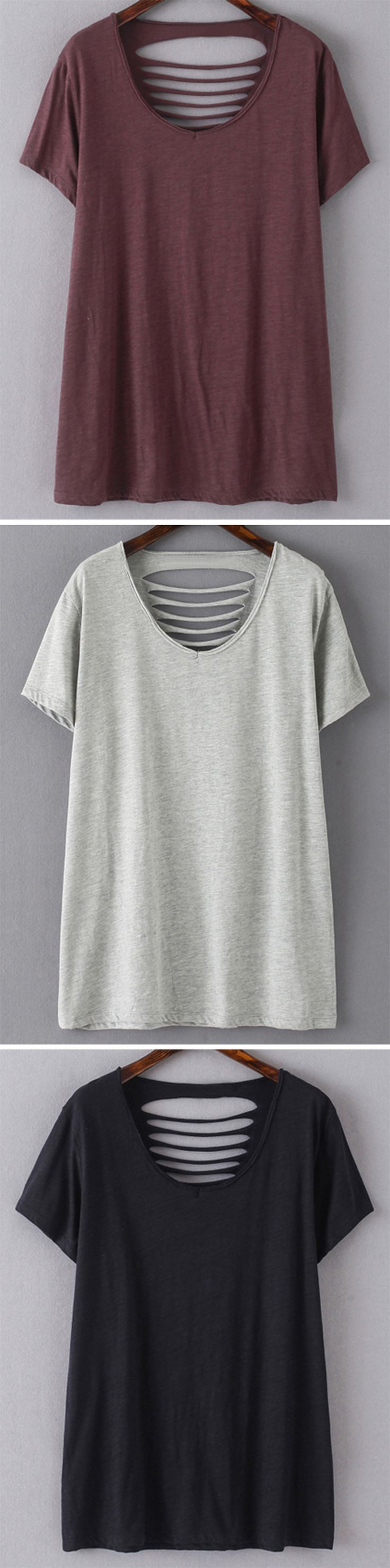 DIY: Cut large T-Shirt.                                                                                                                                                      More