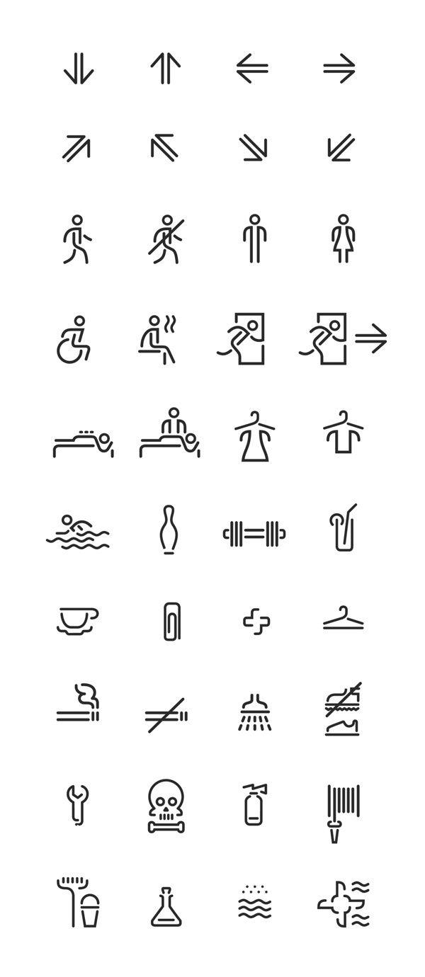 Wayfinding and identity for Voskresenskoe on Behance #wayfinding #icon #pictogram