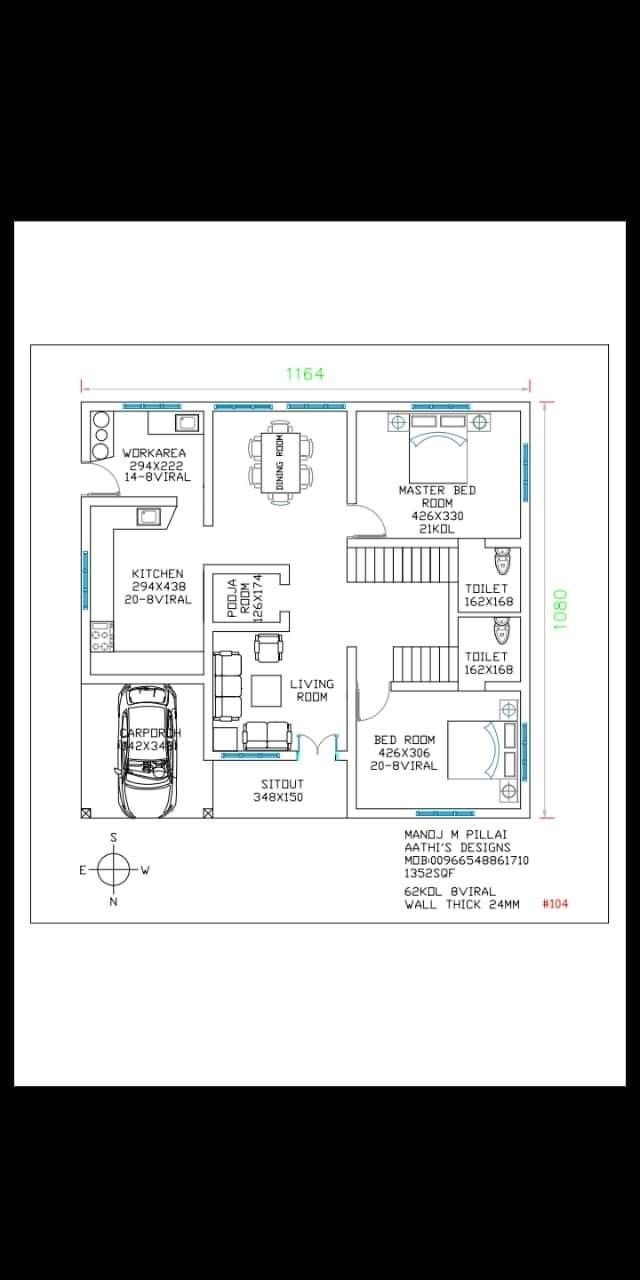 It Saved And I Shall See Next Time 2bhk House Plan My House Plans House Plans