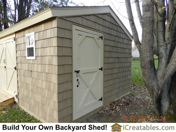 12x20 large shed plans showing home built shed doors.