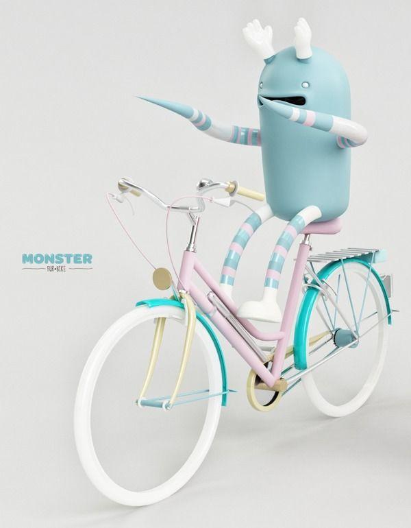MONSTER. FUR-BIKE by AARON MARTINEZ, via Behance