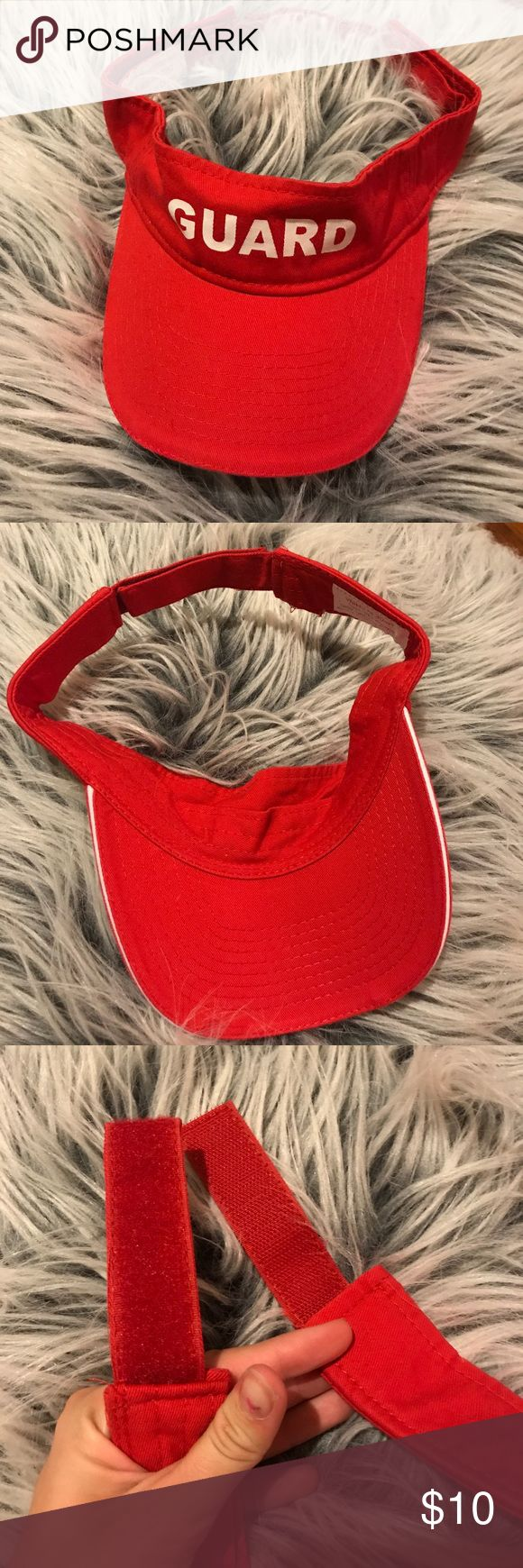 Lifeguard red visor Brand new, never been used. Red lifeguard visor. One size fits most. Velcro straps. lifeguard Accessories Hats