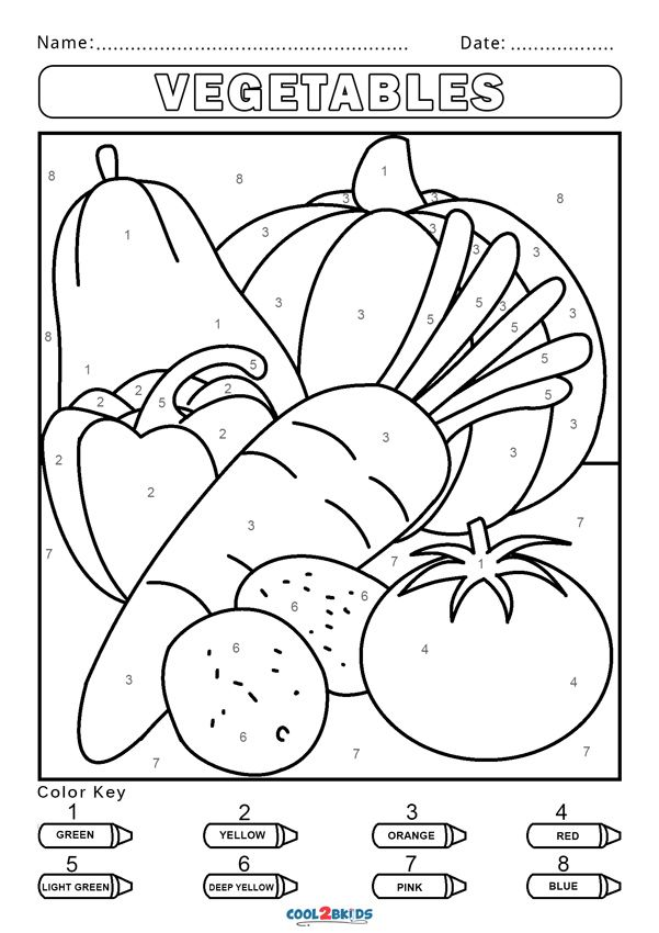 Free Color by Number Worksheets | Cool2bKids in 2020 ...