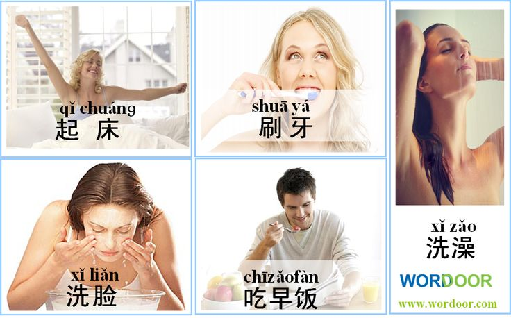 Wordoor Chinese - Activities in the morning # Do you take shower in the morning? We Chinese shower in the evening actually.