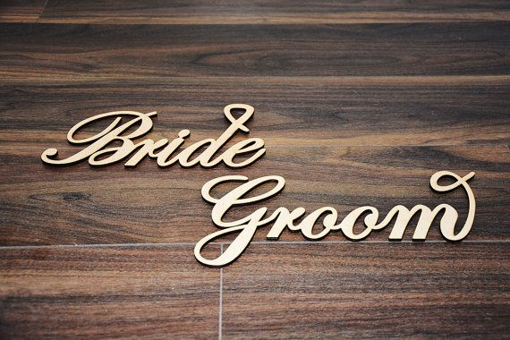 Chair Signs / Bride and Groom Signs / Mr. and Mrs. Signs /