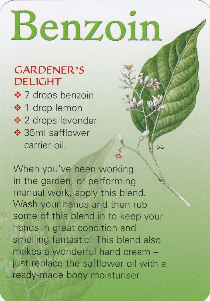 Benzoin essential oil and skin...