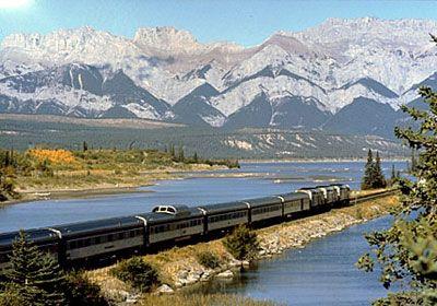 Train Ride through the Canadian Rockies, Alberta