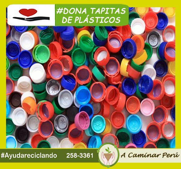 """#Reciclar #Donar A caminar incentiva el reciclaje de todo tipo de plásticos, en este caso, el reciclaje de tapas de plástico. Recuerde que debemos aportar nuestro granito de arena para la protección de nuestro medio ambiente... ¡Sé parte del cambio ayúdanos con tu donación de reciclaje! """"A caminar Perú"""", reciclamos para ayudar ❤ Contactanos : 258-3361 / RPM 9850 30860 Descubre más de nuestro trabajo aquí: http://acaminarperu.org/"""