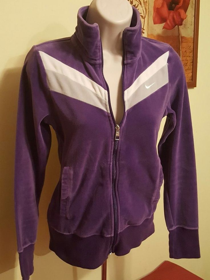 Nike Velour purple Zip Up Zipper Hoodie Warm Up Jacket Women's Size X-Small XS | Clothing, Shoes & Accessories, Women's Clothing, Sweats & Hoodies | eBay!