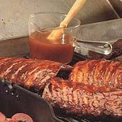 Apricot Barbecue Sauce Recipe [This sounds so good to me but I am partial to Apricots, and Jam. Ribs are not my thing exactly but a roast in the over? This would still be good. Even on a cauliflower steak... mmm. Uh, hidden gluten in Worcestershire sauce and ground spices. Tabasco brand sauce is three ingredients: distilled vinegar, peppers, salt. Safe for most eaters! — 30-06-13]