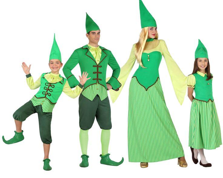 familia de duendes irlandeses disfraces carnaval