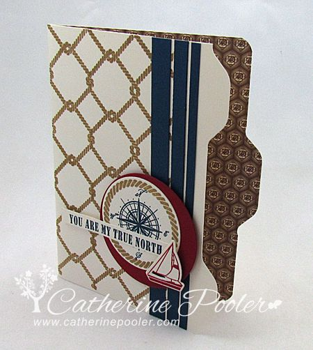 Make this cute masculine file folder card with the Envelope Punch Board- video tutorial on my blog.  http://catherinepooler.com/2013/09/envelope-punch-board-file-folder-video-tutorial/ #wplus9 #envelopepunchboard