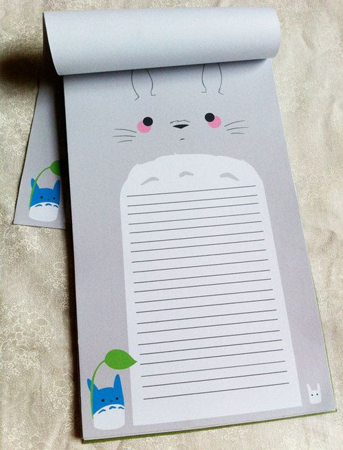 OMG OMG OMG KAWAII TOTORO NOTEPAD!!!!! THIS WAS MADE FOR ME!! :D