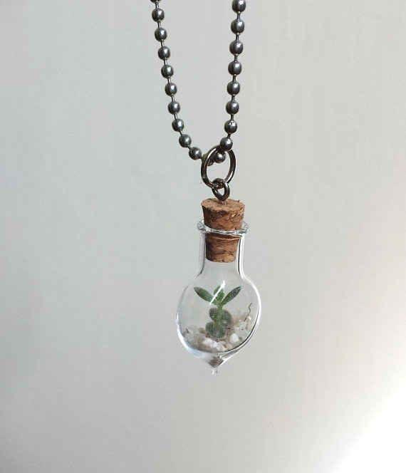 17 best ideas about terrarium necklace on