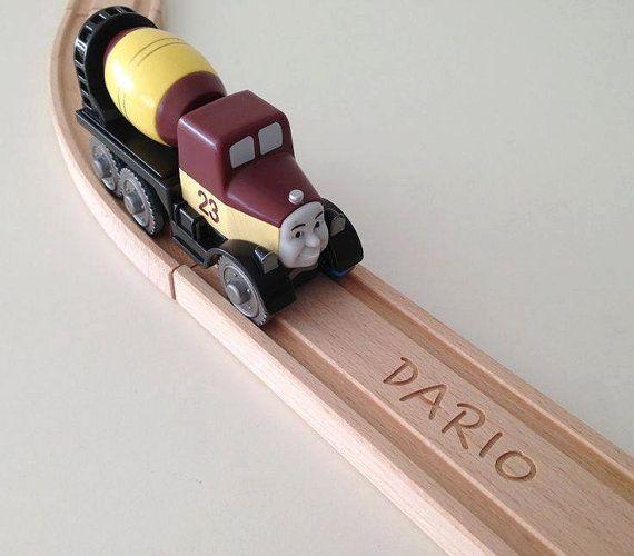 Piste de Train en bois BRIO personnalisé droite par WoodpeckersCH