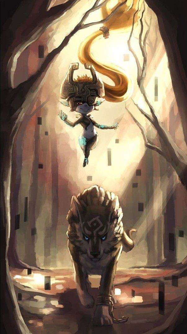 Legend Of Zelda Twilight Princess Art Midna Imp Form And Wolf Link Reconisan Legend Of Zelda Midna Legend Of Zelda Tattoos Zelda Twilight Princess