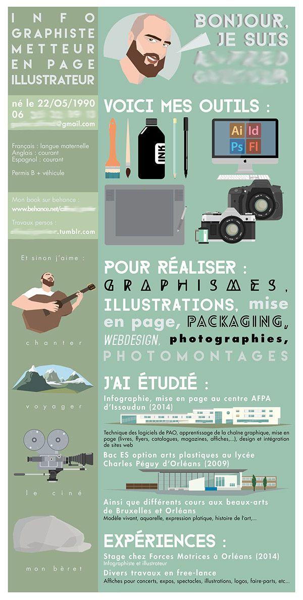 134 best CV CL images on Pinterest - creative graphic design resumes