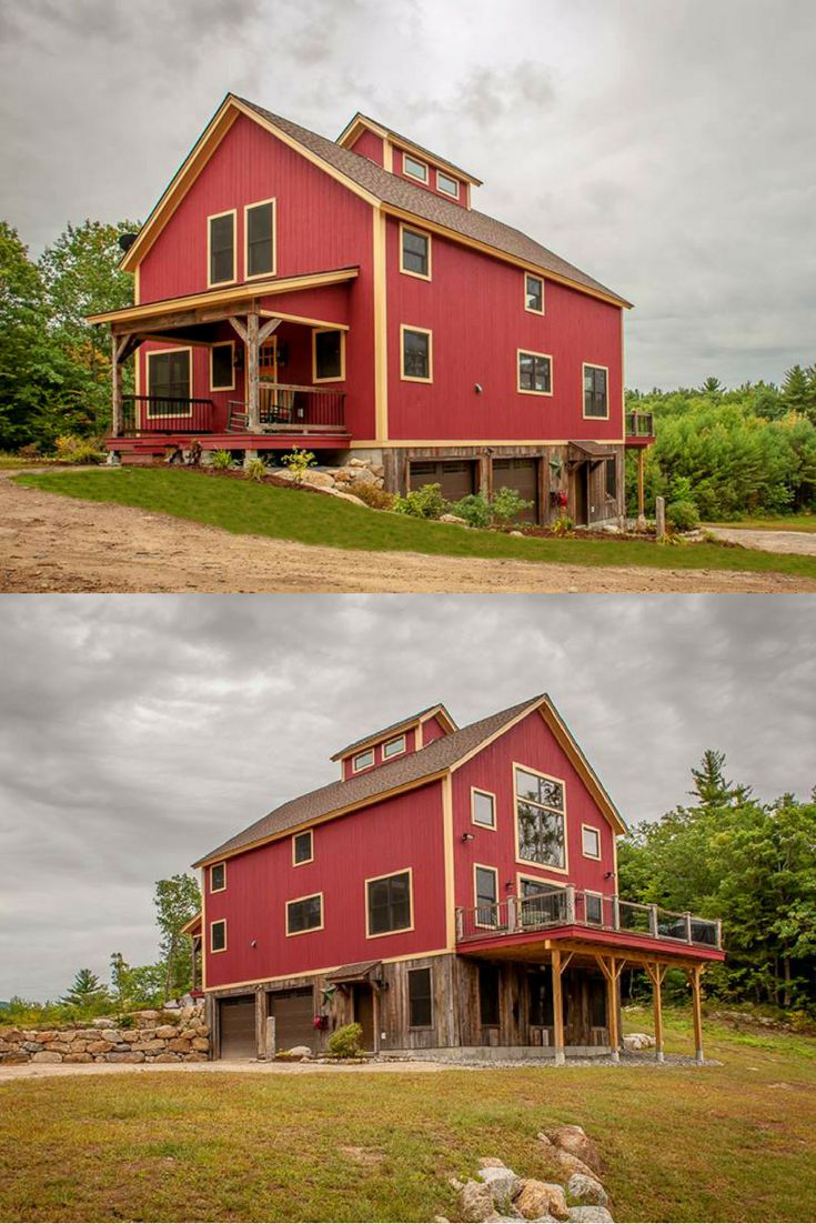 106 best small barn house designs images on pinterest for Pole barns homes